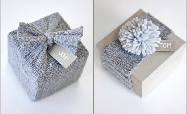 Как красиво подарить свитер в подарок 44