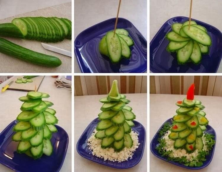 Как красиво украсить салаты пошагово