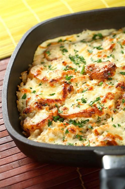 Запеканка из картофеля с грибами в духовке рецепты