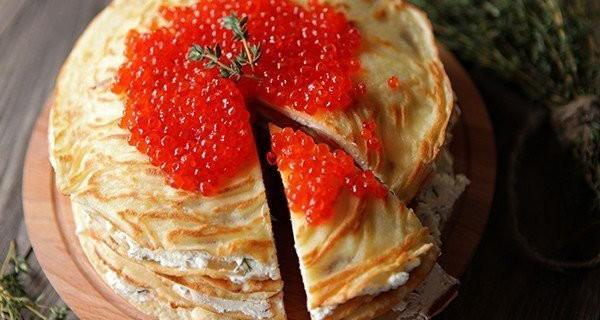 блинный торт с лососем и сыром3