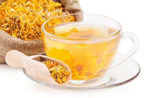 чай с календулой