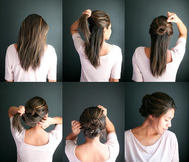 Причёски за 10 минут своими руками на средние волосы