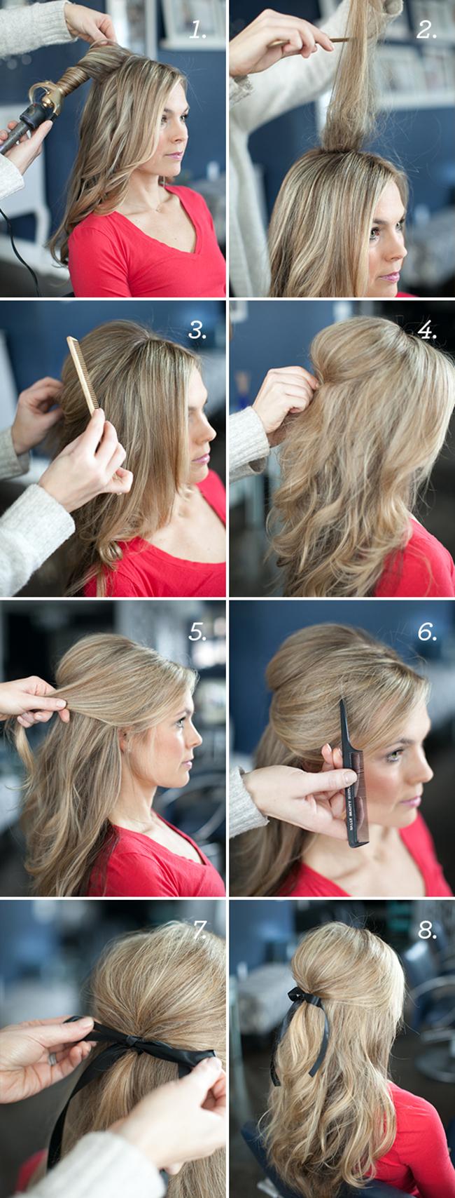 Прическа своими руками на длинные волосы за 5 минут фото