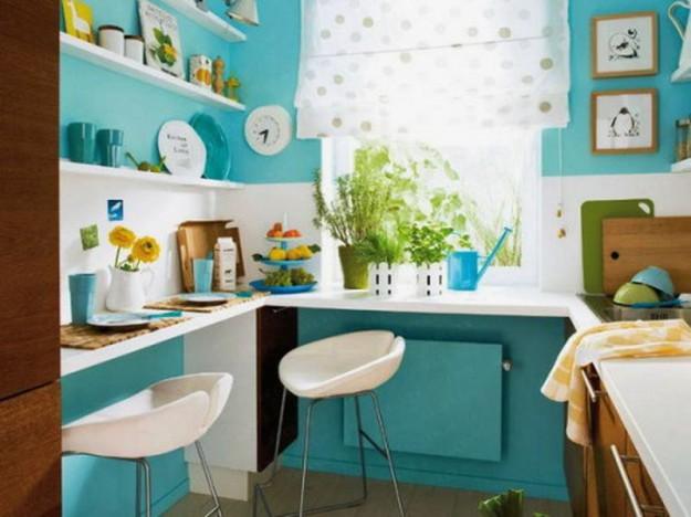 уют в маленькую кухню