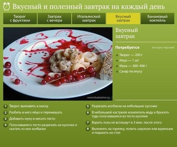 Вкусные и простые завтраки рецепты с фото