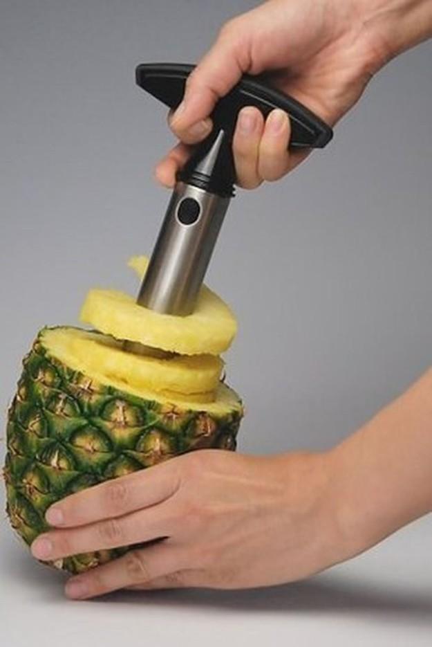 Для идеально нарезанного ананаса