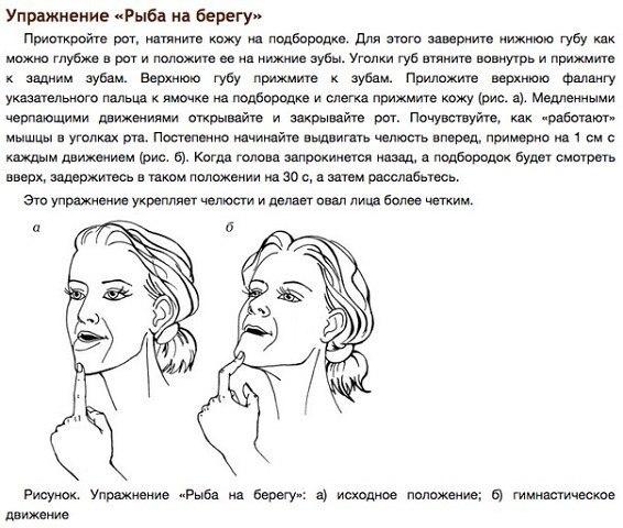 упражнения для подтяжки кожи на шее