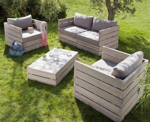 Мебель для сада своими руками фото