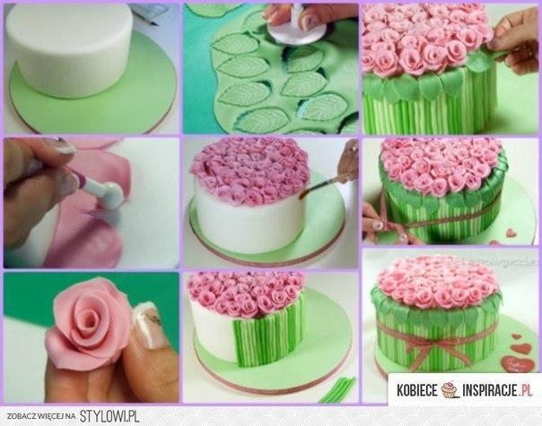 Сам делать цветочки на торт