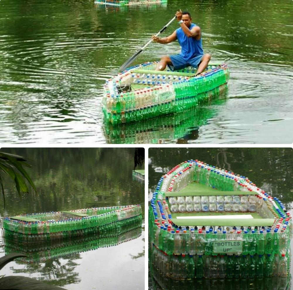 Лодка из бутылок пластиковых своими руками фото 27