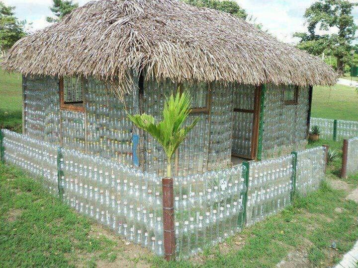 Дача из пластиковых бутылок своими руками фото