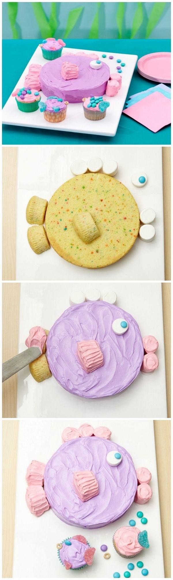 Как украсить торт кремом для мальчика