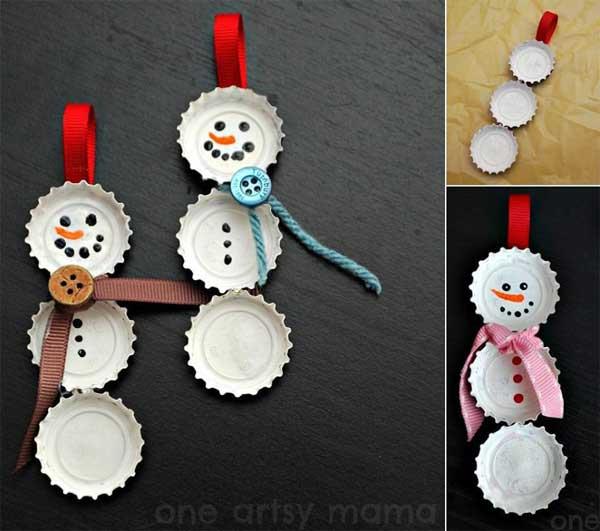 Как сделать снеговика из подручных материалов своими