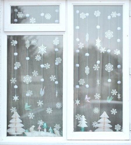 Окно к новому году своими руками фото