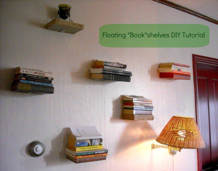 bookshelf Floating books