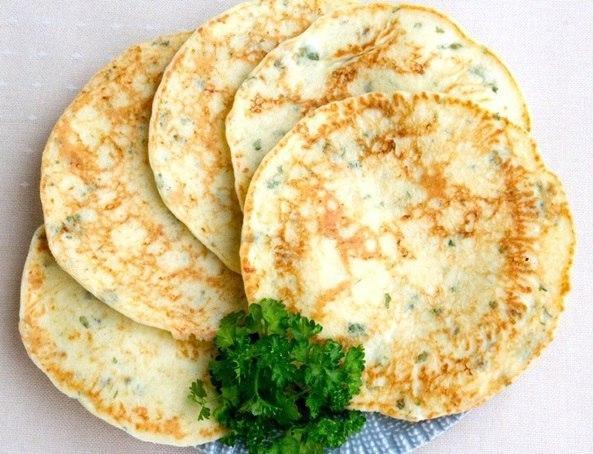 сырные лепёшки с зеленью