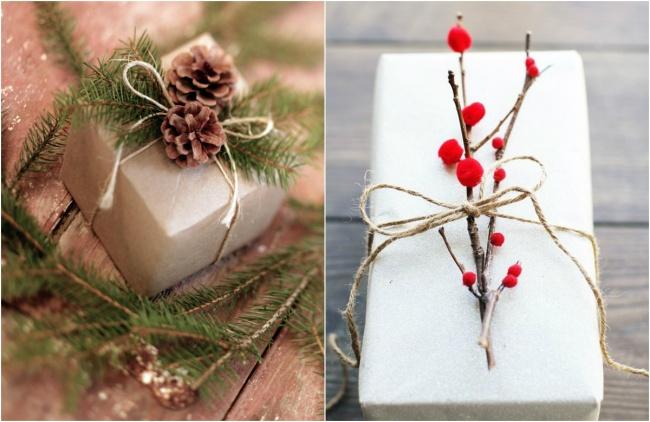 Украшение новогодних подарков своими руками
