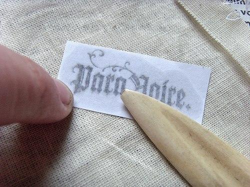 переносим изображение с бумаги на ткань6