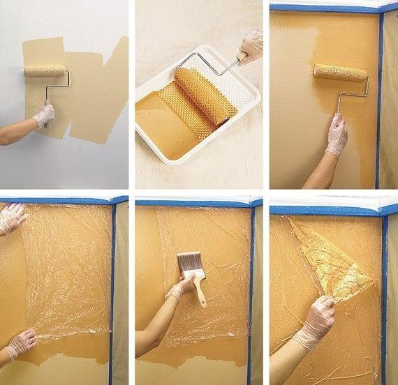 Декор стены красками своими руками