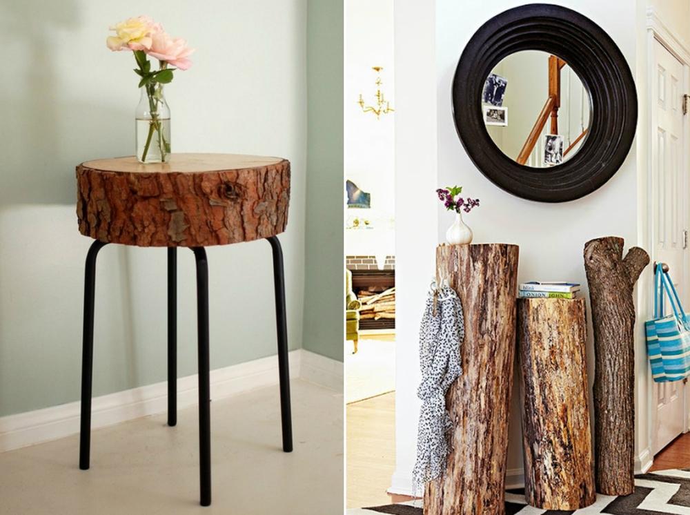 мебель из настоящих деревьев