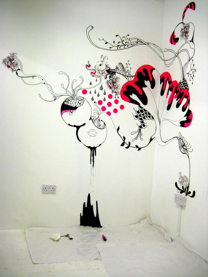 рисунки которые можно нарисовать на стене в комнате